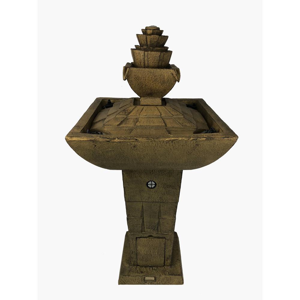 Serena Garden Co. Modern Dancing Waters Cordless Fountain in Bronze
