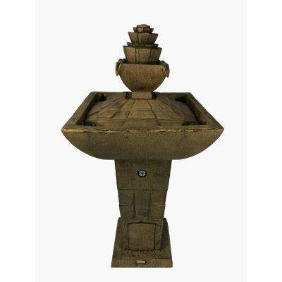 Modern Dancing Waters Cordless Fountain in Bronze