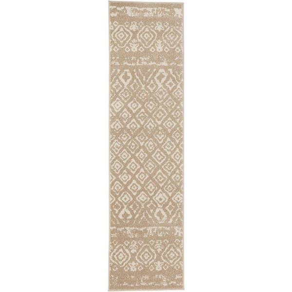 Tribal Essence Beige 2 ft. x 7 ft. Runner Rug