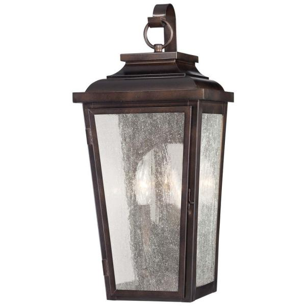 Irvington Manor 2-Light Chelsea Bronze Outdoor Pocket Wall Lantern Sconce
