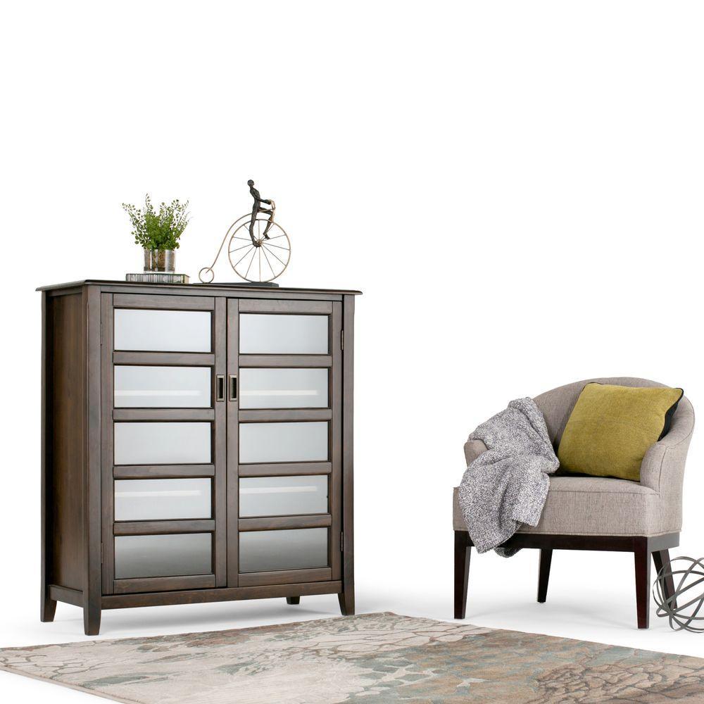 Beautiful Simpli Home Burlington Rich Espresso Cabinet With Storage 3AXCBUR 004   The  Home Depot