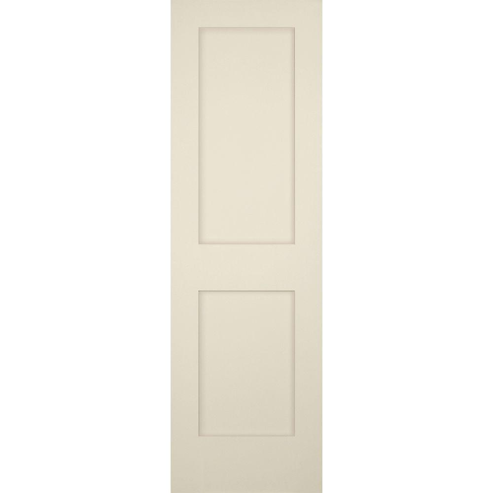 Builders Choice 24 In X 80 In 2 Panel Shaker Solid Core Primed Pine Single Prehung Interior