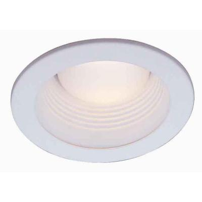 4 in. White Recessed Can Light Baffle Trim