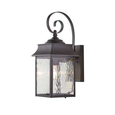 Scroll 1-Light Black Outdoor Small Wall Mount Lantern