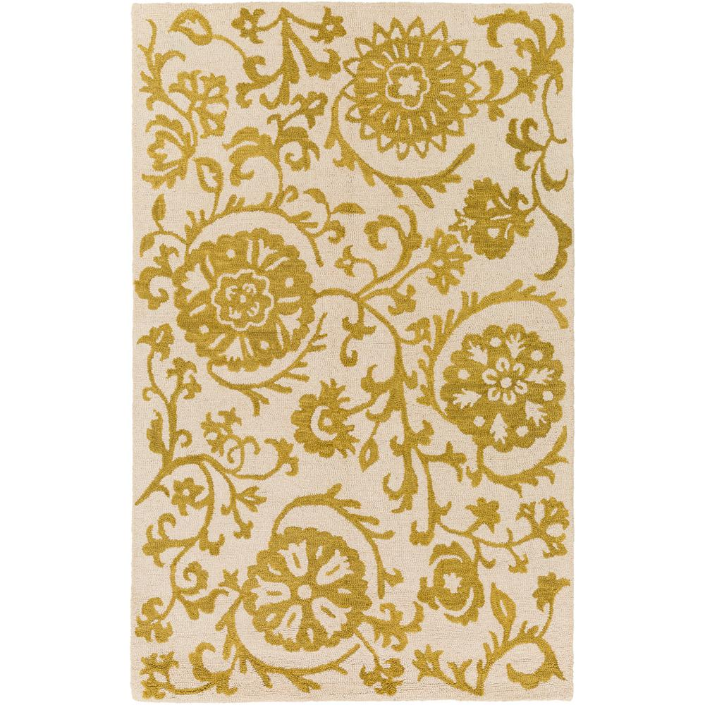 Rhodes Maggie Gold 5 ft. x 8 ft. Indoor Area Rug