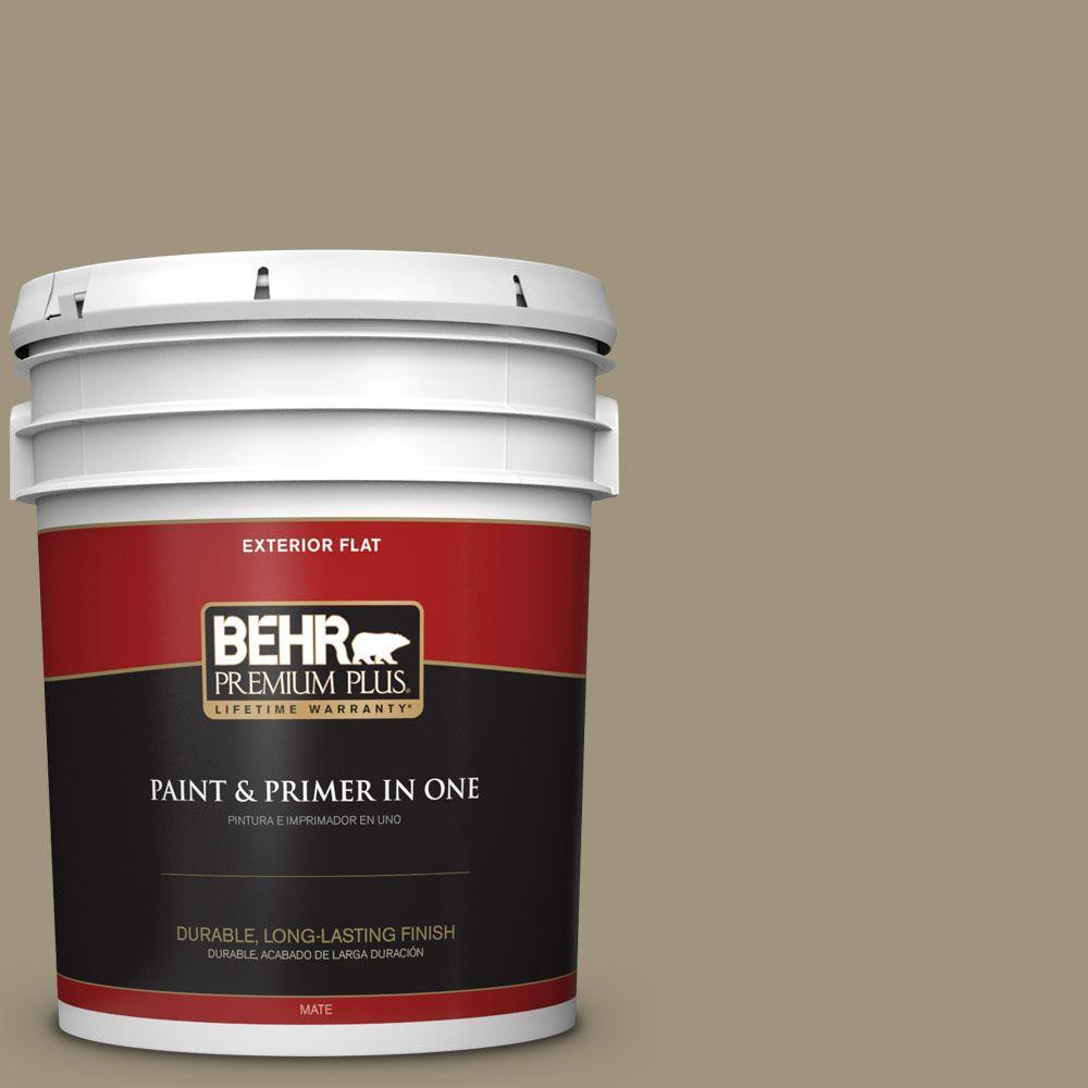 BEHR Premium Plus 5-gal. #760D-5 Shortgrass Prairie Flat Exterior Paint