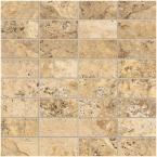 Travisano Navona 12 in. x 12 in. x 8 mm Porcelain Mosaic Floor and Wall Tile