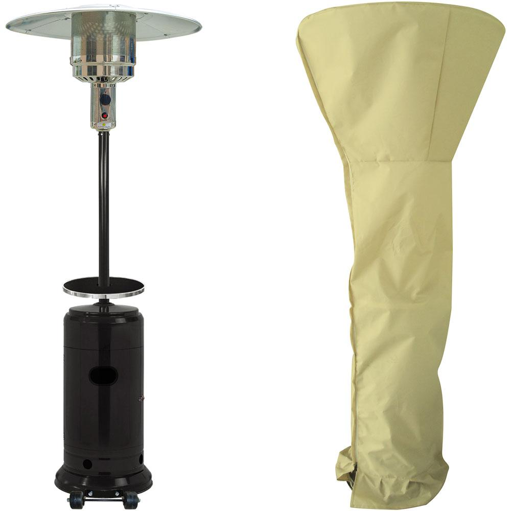 7 ft. 41,000 BTU Black Steel Umbrella Propane Patio Heater with
