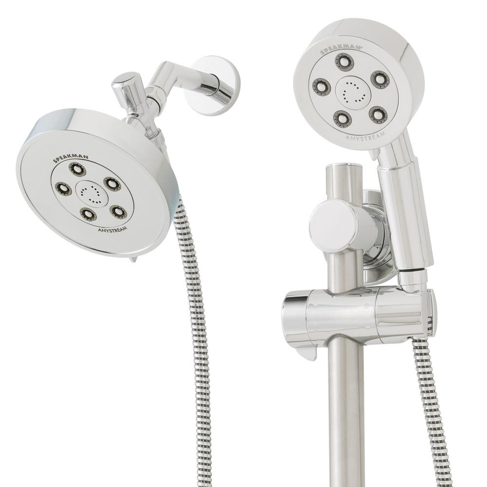 Speakman Neo 3-Spray Hand Shower and 3-Spray Shower Head Combo Kit ...