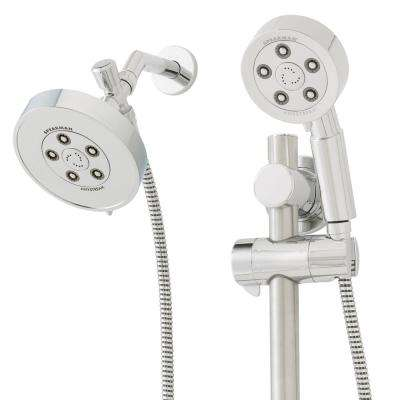 Neo 3-Spray Hand Shower and 3-Spray Shower Head Combo Kit in Polished Chrome