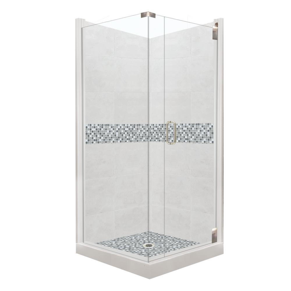 sterling corner shower kits. Del Mar Grand Hinged 42 in  x 80 STERLING Solitaire Economy 29 7 16 78 1 4