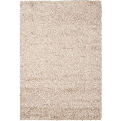 California Shag Beige 9 ft. 6 in. x 13 ft. Area Rug