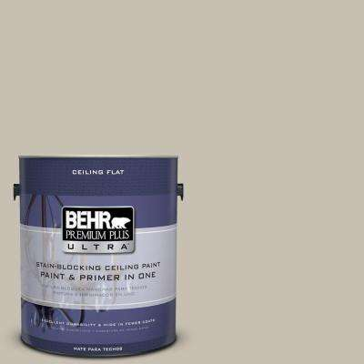 1 gal. #PPU8-17 Ceiling Tinted to Fortress Stone Flat Interior Paint and Primer in One