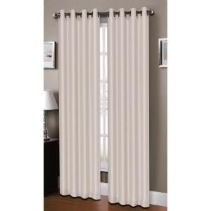 Window Elements Semi-Opaque Raphael Heathered Faux-Linen Extra-Wide 96 inch L Grommet Curtain Panel Pair, Ivory (Set of... by Window Elements