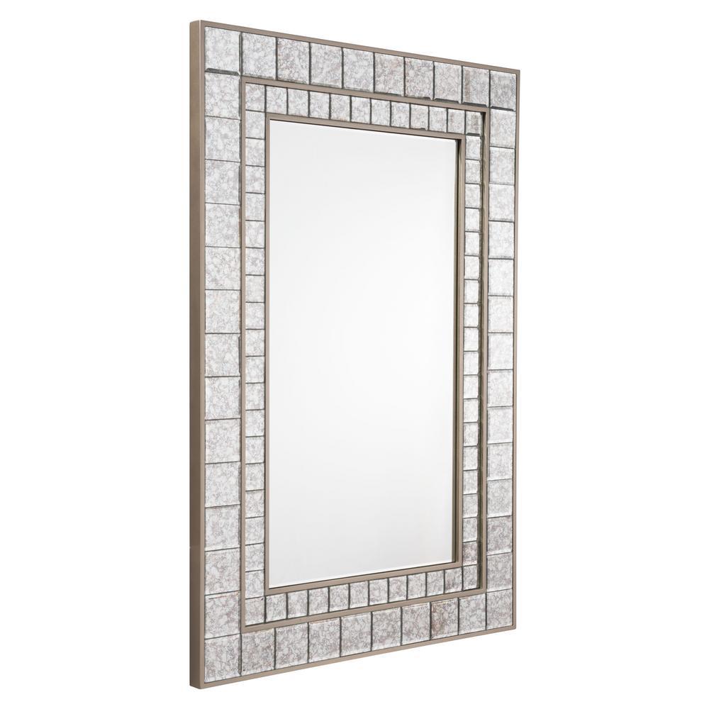 Squares Antique Wall Mirror