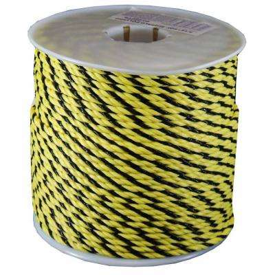 1/4 in. x 600 ft. Twisted Polypro Rope in Yellow and Black