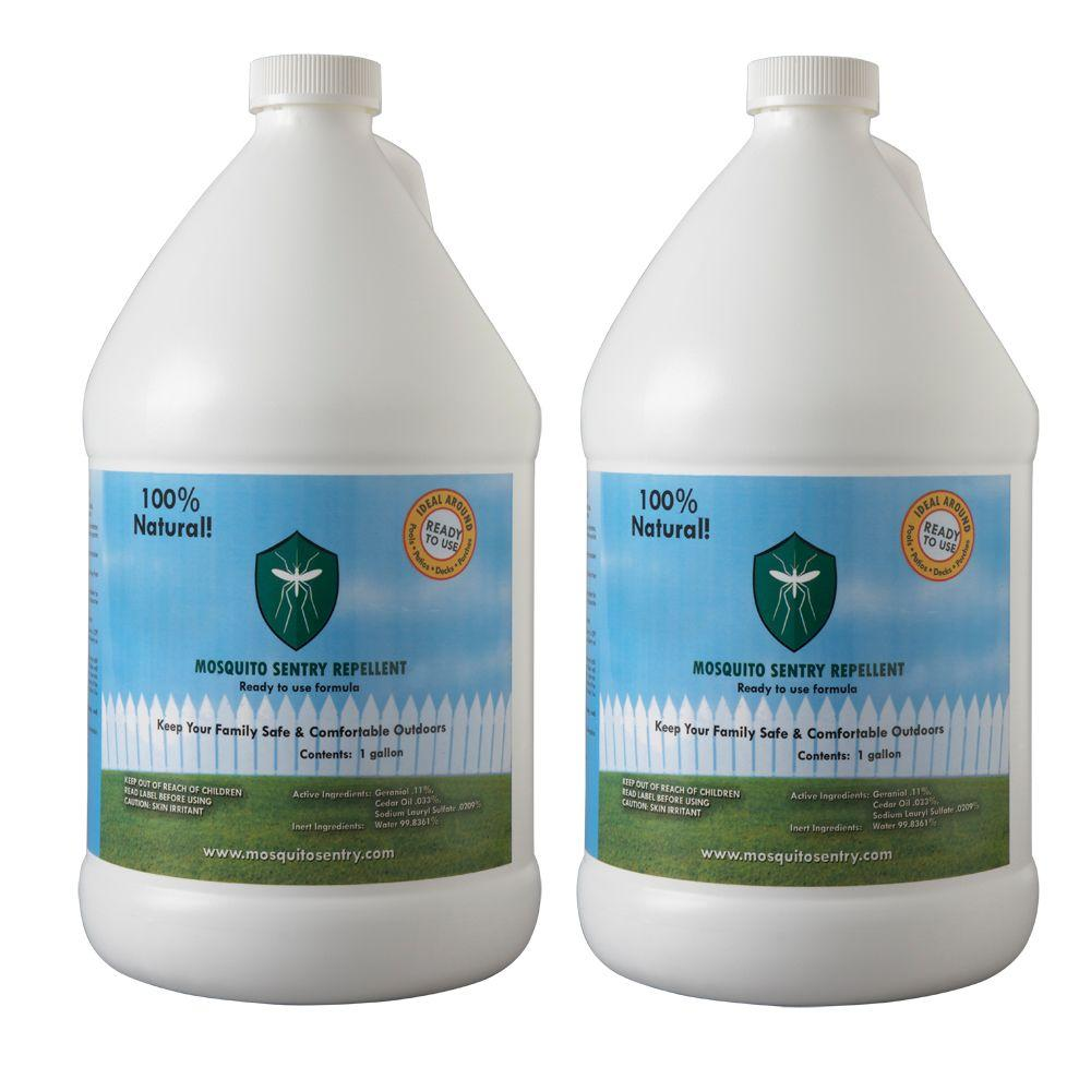 mosquito sentry 1 gal natural ready to use repellent 2 pack