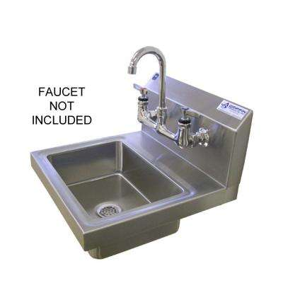 H60-Series Wall Mount Stainless Steel 2-Hole Single Bowl H-Duty Hand Sink