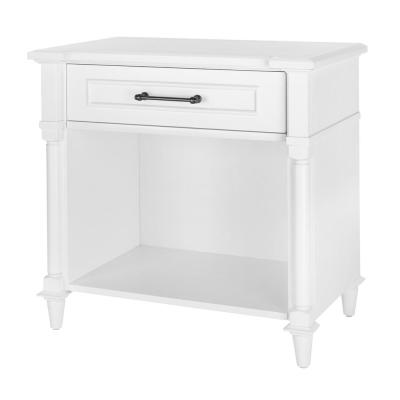 Bellmore 1-Drawer White Nightstand