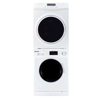 White Laundry Center with 1.57 cu. ft. Washer and 3.5 cu. ft. Electric Standard Dryer