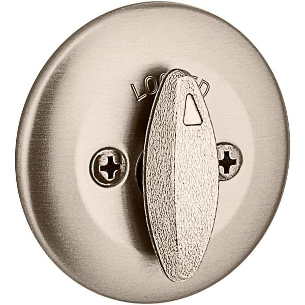 Kwikset 663 Single Sided Deadbolt In Satin Nickel With Microban Antimicrobial Technology 663 15 Cp Rcl Rcs The Home Depot