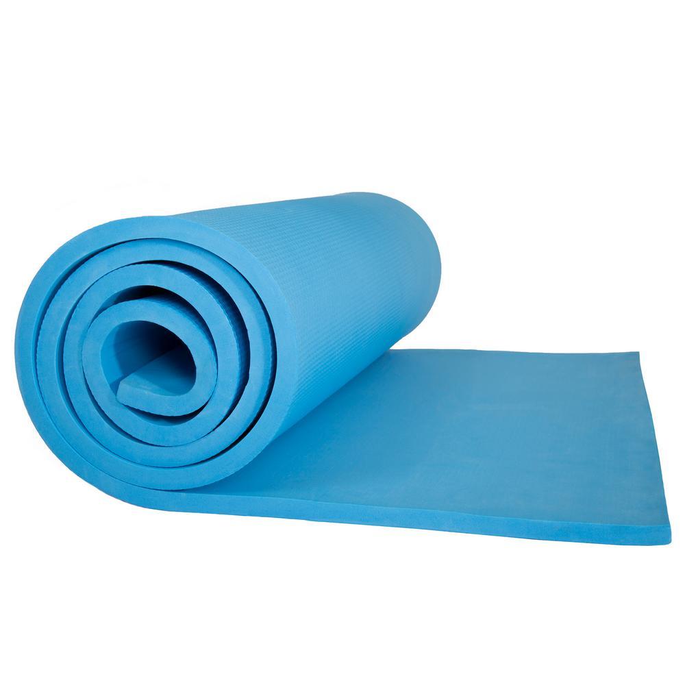 72 in. Super Light Luxury Foam Light Blue Camping Sleep Mat
