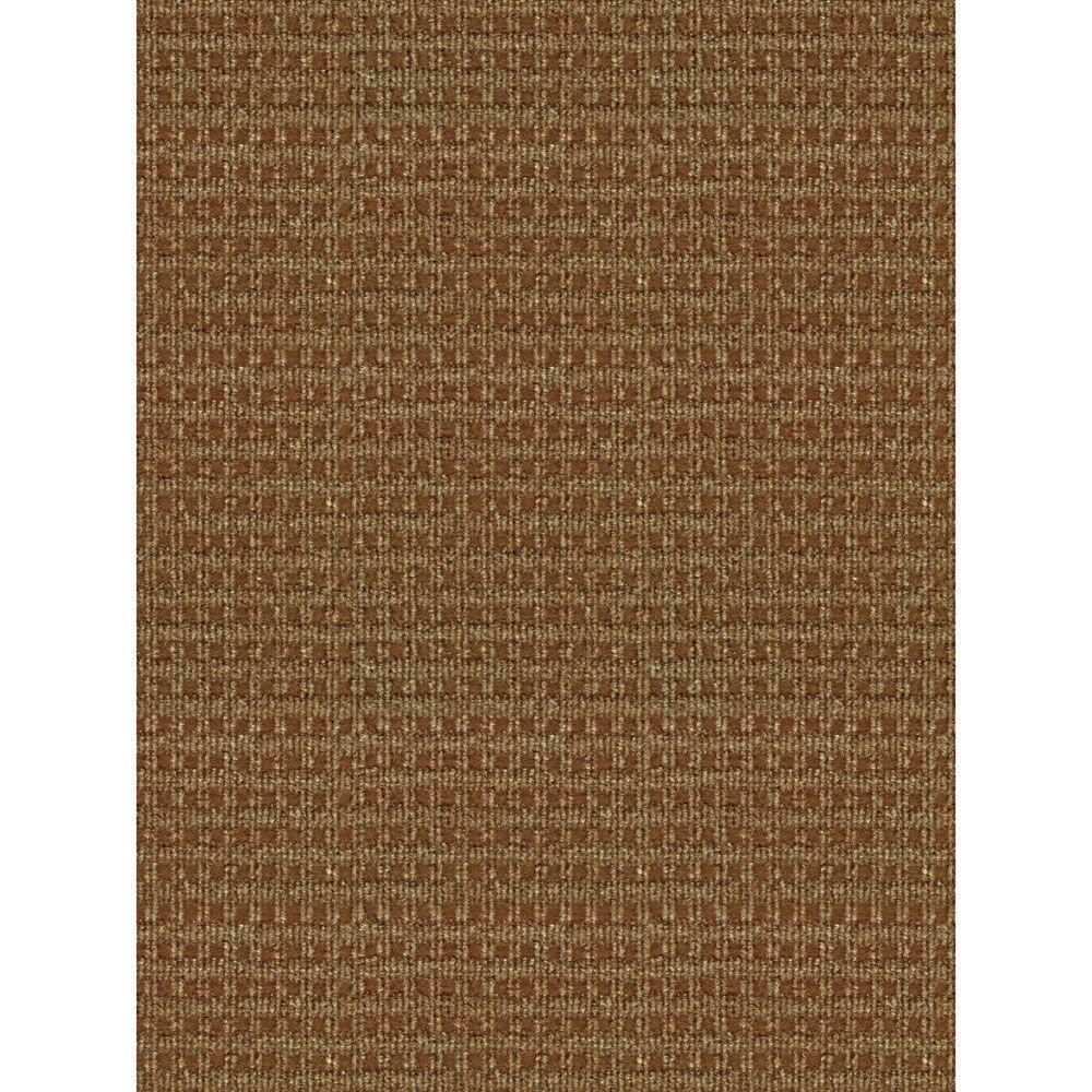 Foss Checkmate Taupe/Walnut 6 ft. x 8 ft. Indoor/Outdoor Area Rug
