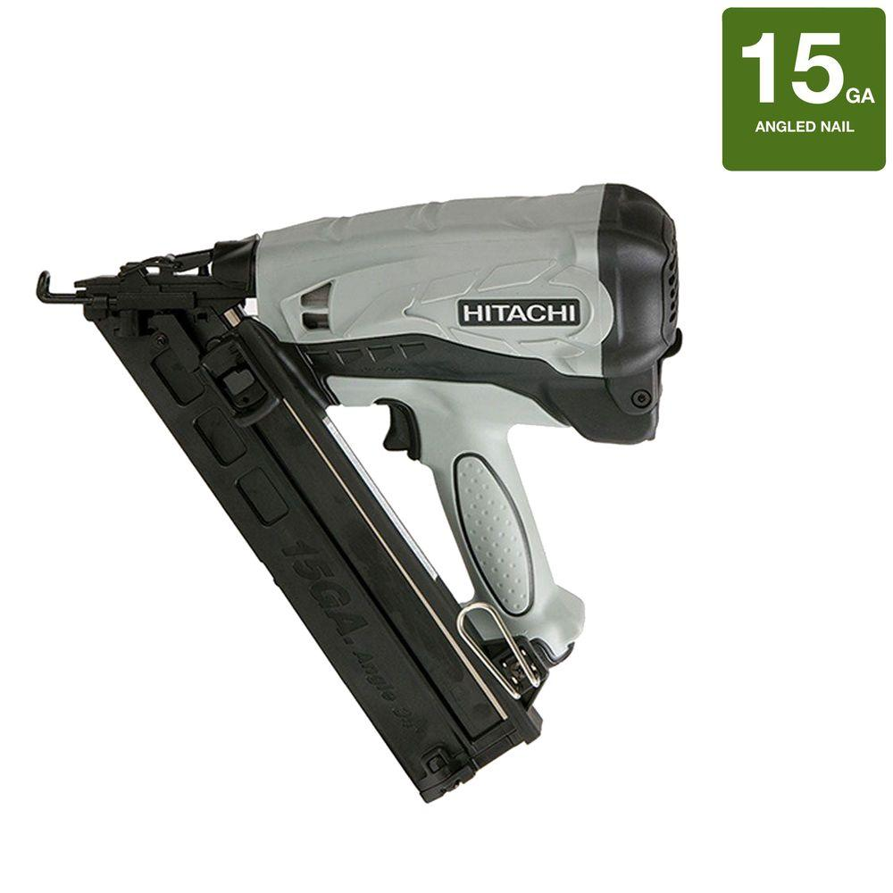 Hitachi 2-1/2 in. x 15-Gauge Gas Powered Angled Nailer