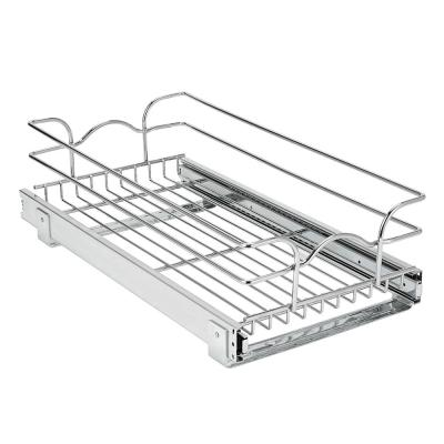 7 in. D x 12 in. W x 22 in. H Single Wire Rollout Tray for Base Cabinet Metal Closet System