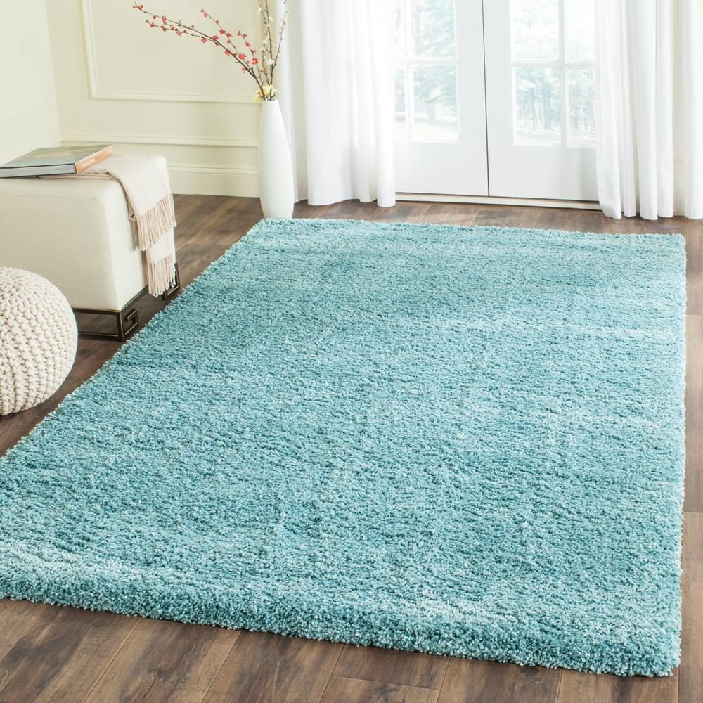 Safavieh Milan Shag Aqua Blue 10 Ft. X 14 Ft. Area Rug
