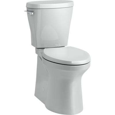 Betello 2-Piece 1.28 GPF Single Flush Elongated Toilet in Ice Grey (Seat Not Included)