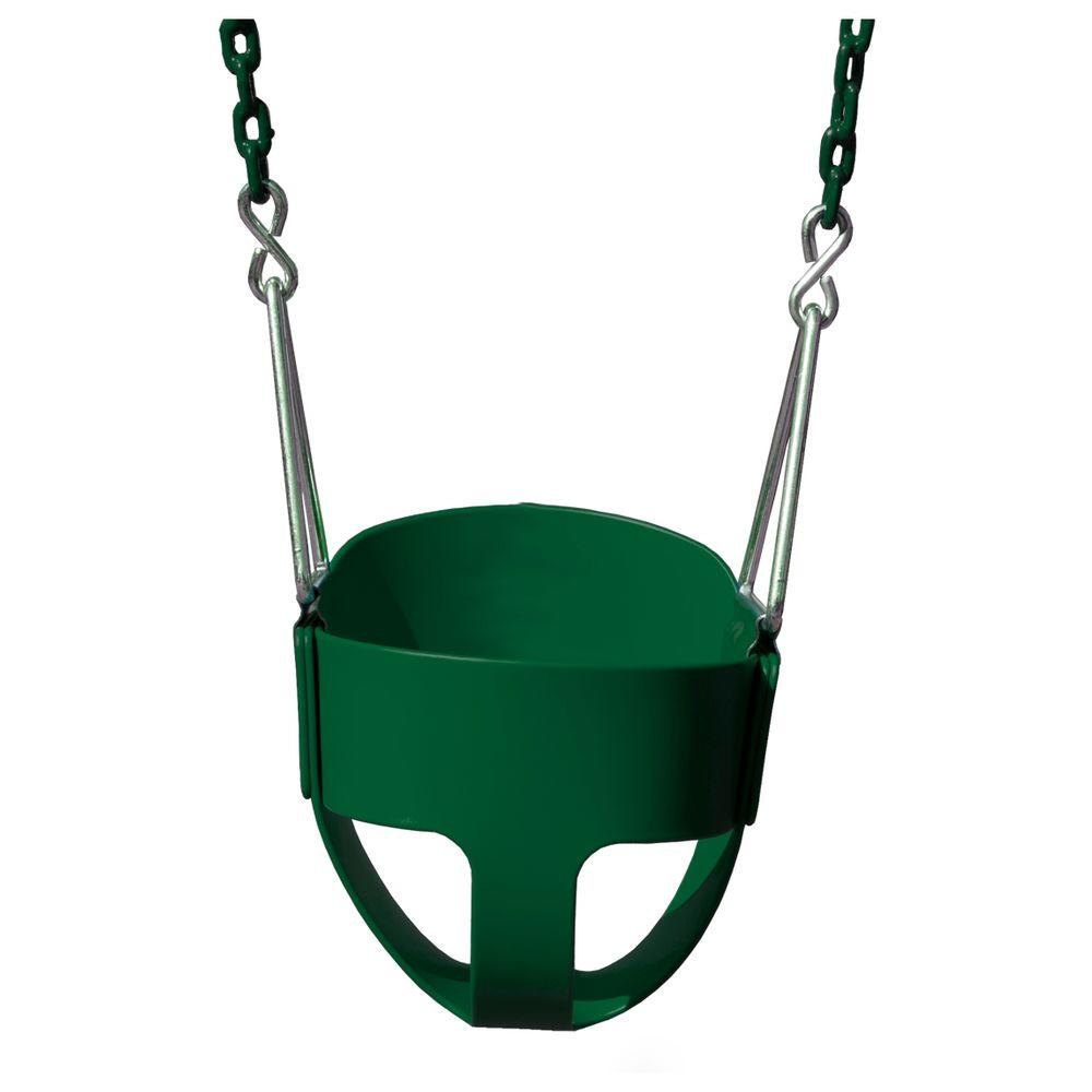 Gorilla Playsets Full-Bucket Swing with Chain in Green-04-0008-G/G ...