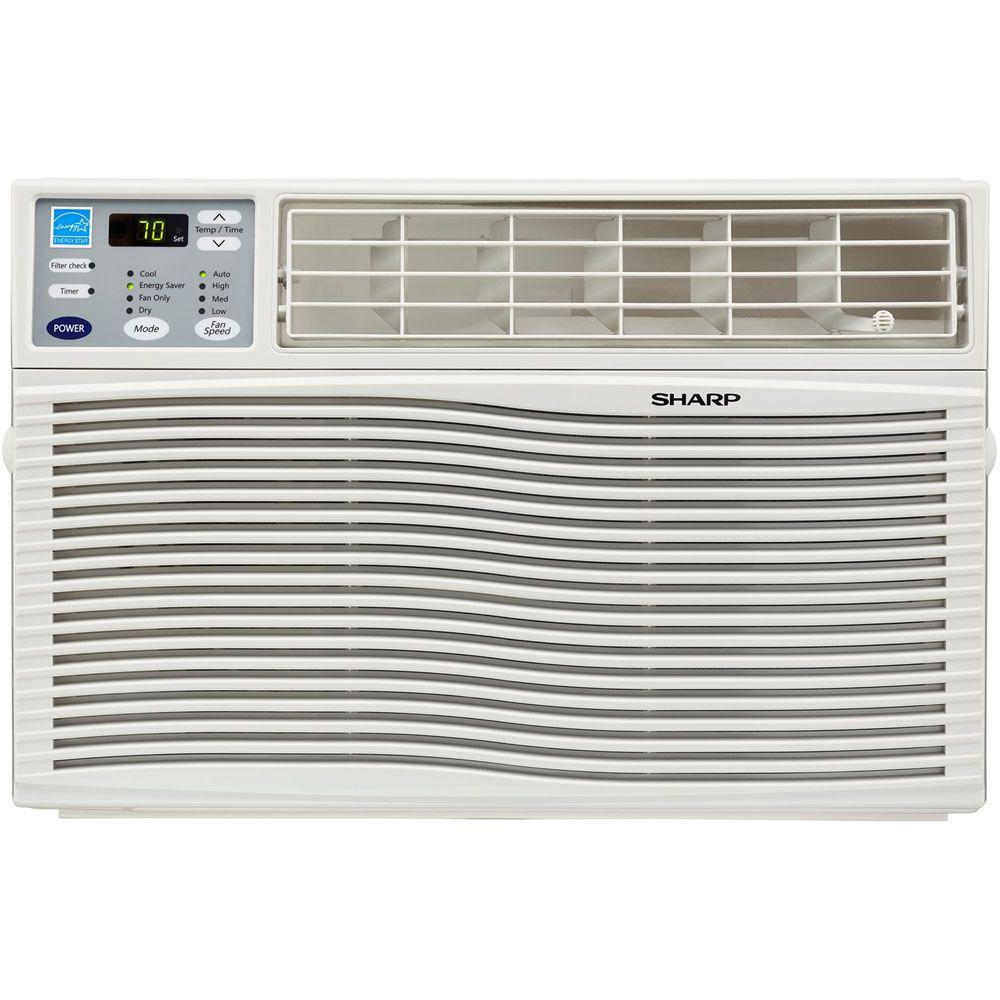 Sharp 6,000 BTU Window-Mounted Air Conditioner with Rest Easy Remote Control, ENERGY STAR