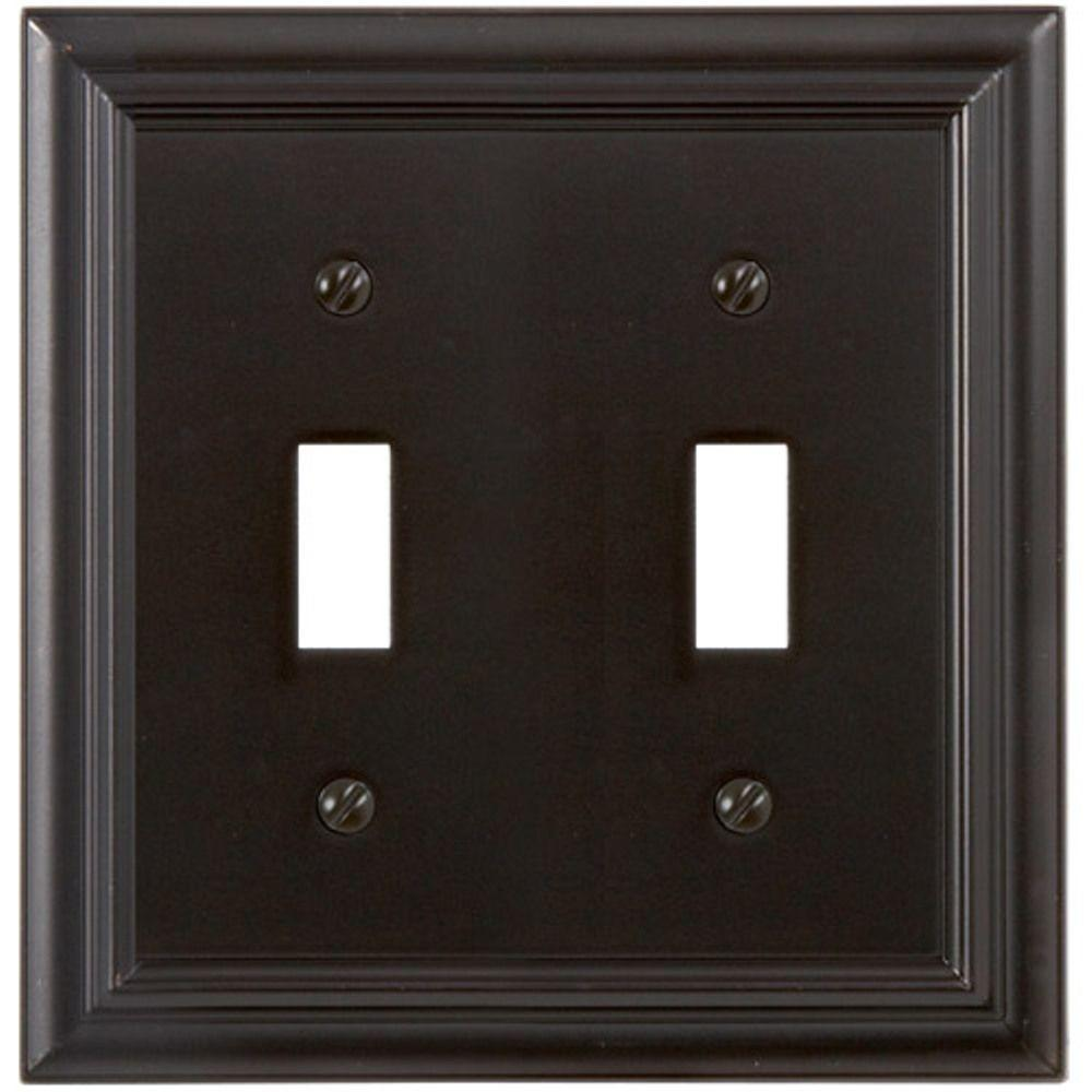 Continental 2 Toggle Wall Plate - Oil Rubbed Bronze