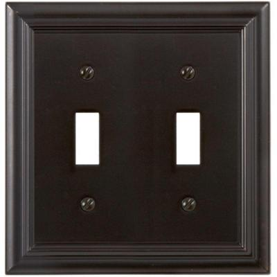 Continental 2 Gang Toggle Metal Wall Plate - Oil-Rubbed Bronze