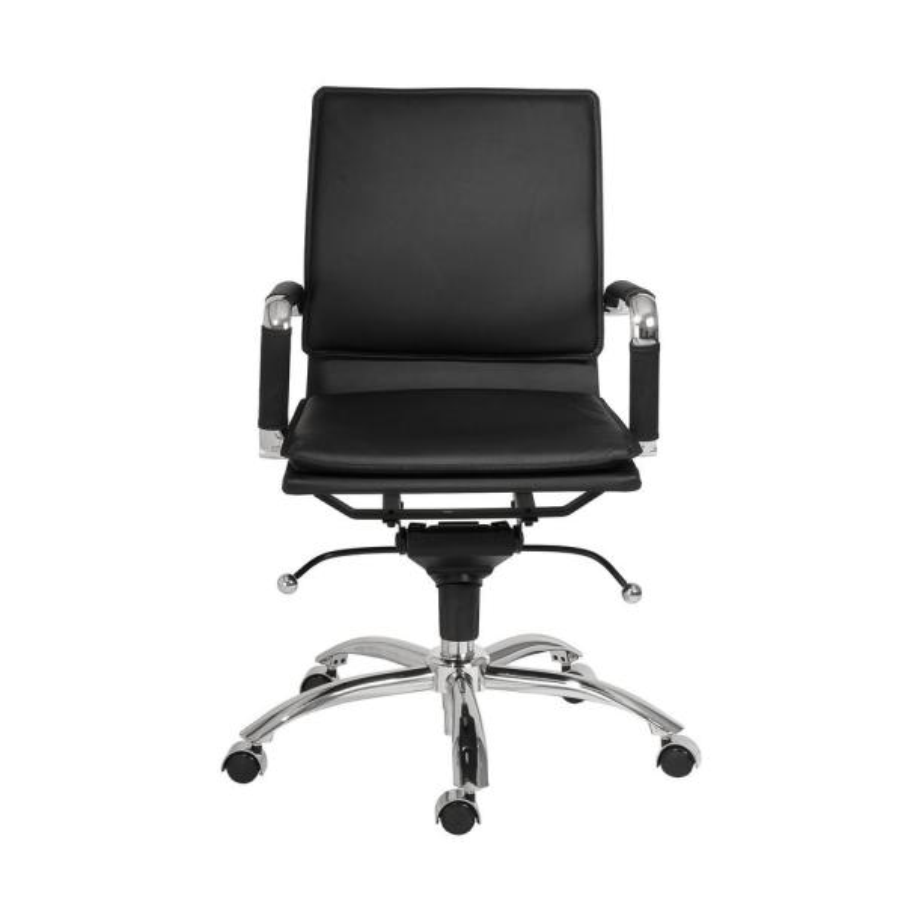 Eurostyle Gunar Black Pro Low Back Office Chair 01263BLK
