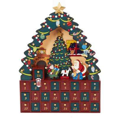 16 in. Christmas Tree Advent Calendar(24-Piece)