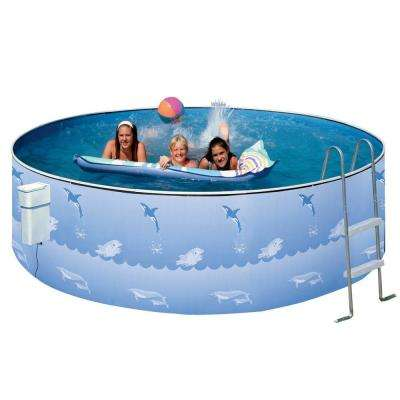 Aqua Family 12 ft. Round 36 in. Pool Package