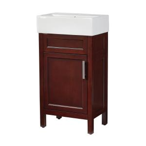 Home Decorators Collection Arvesen 18 inch W x 12 inch D Bath Vanity in Tobacco with... by Home Decorators Collection