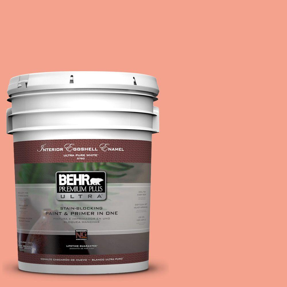 BEHR Premium Plus Ultra Home Decorators Collection 5 gal. #HDC-MD-18 Peach Mimosa Eggshell Enamel Interior Paint and Primer in One