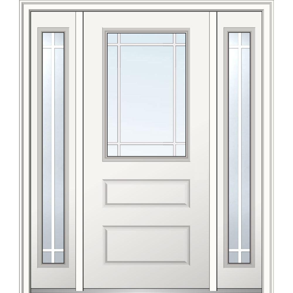 Prehung Door With Two Sidelites Discount Full Lite