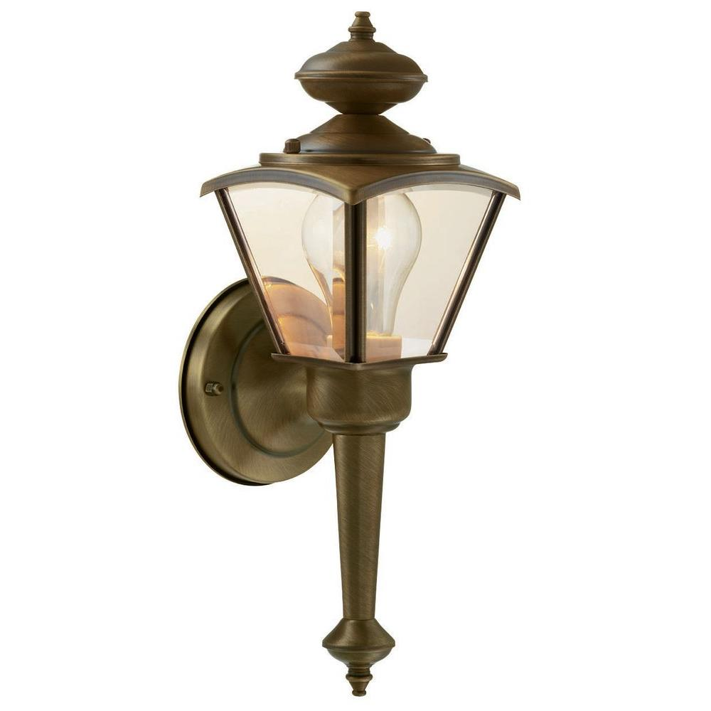 Hampton Bay Wall-Mount Outdoor Lantern-DISCONTINUED