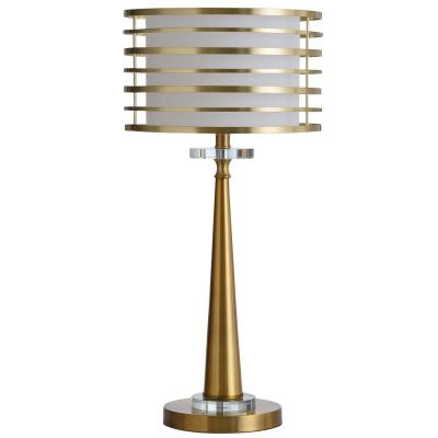 Eiland 25 in. Modern Gold, Clear, Brass Table Lamp