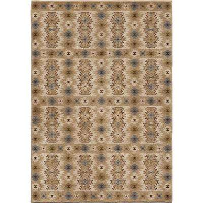 Koker Beige Southwestern Soft 5 ft. 3 in. x 7 ft. 6 in. Indoor Area Rug
