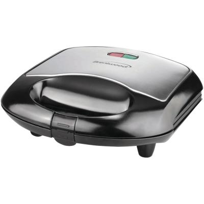 750 W Black Nonstick Compact Dual Sandwich Maker