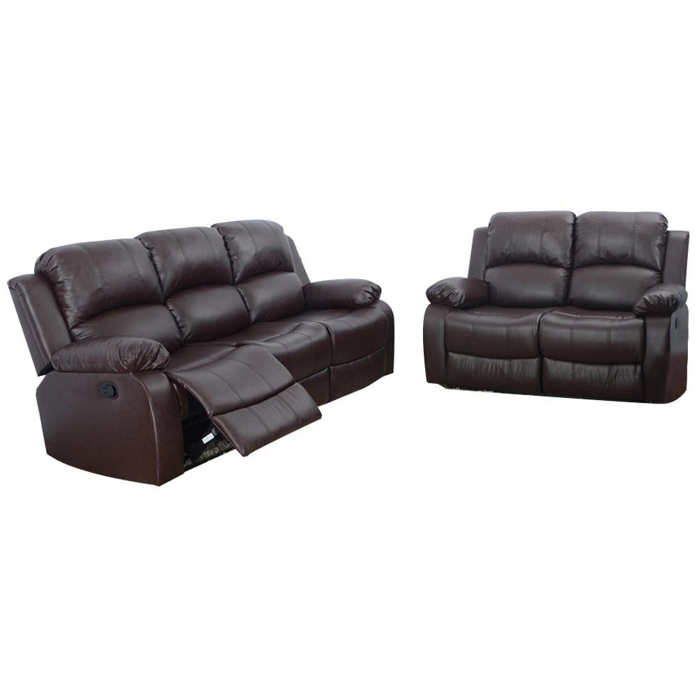 Star Home Living Espresso Brown 2-Piece Leather Living Room (Set)