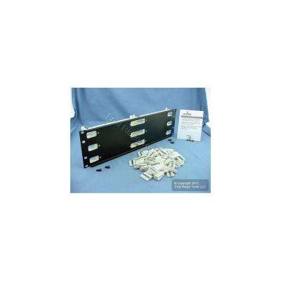 Cat 5e 110-Style Wiring Block Kit Rack Mount 3RU with C-4 Connector Clips, Ivory (300-Pair)