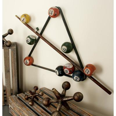 Metal Multi-Colored Billiard Montage Wall Plaque