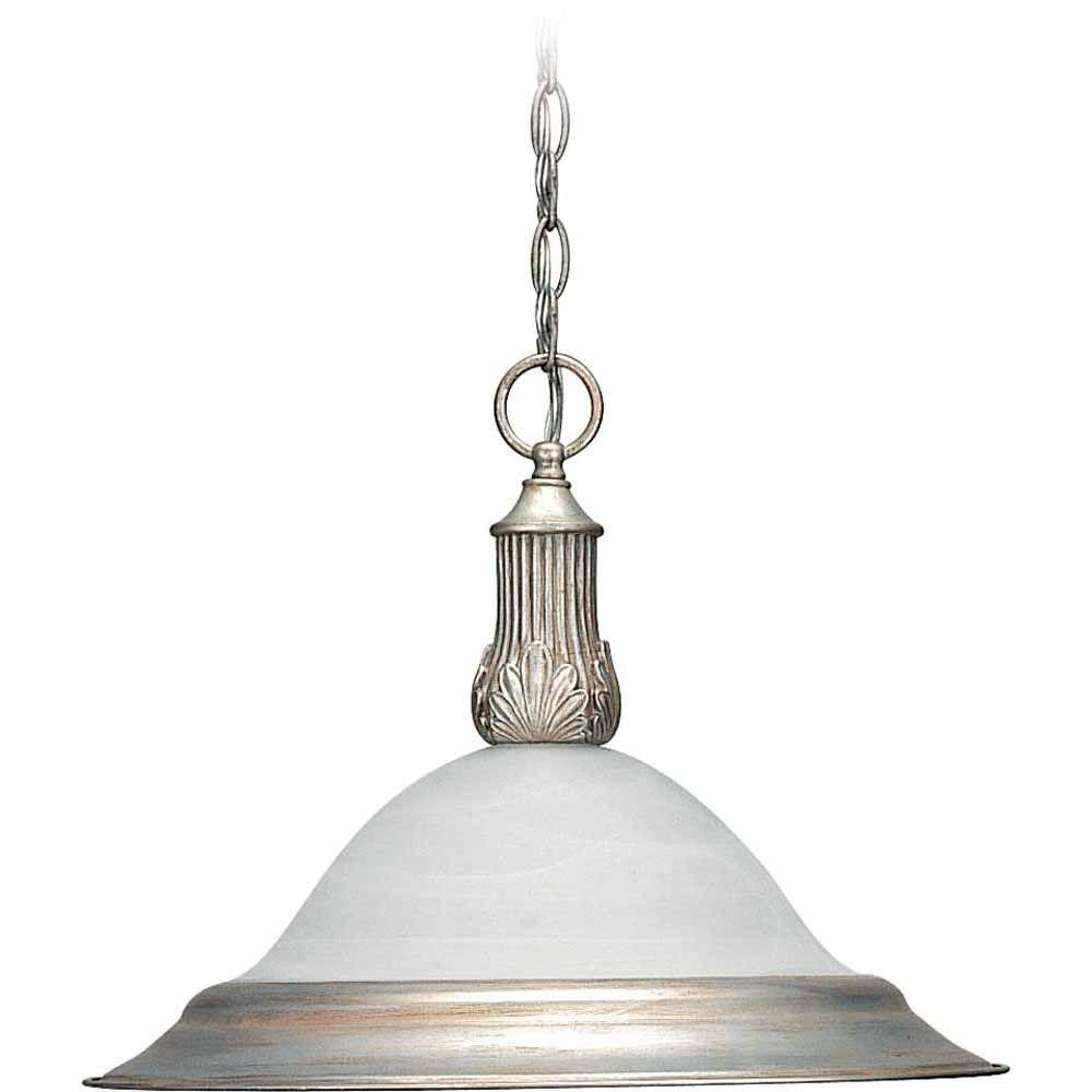 Filament Design Lenor 1-Light Pearl Silver Incandescent Ceiling Pendant