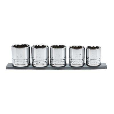 1/2 in. Drive Metric X-Large Socket Set (5-Piece)